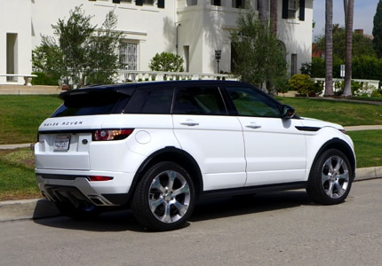 A side view of the Range Rover Evoque