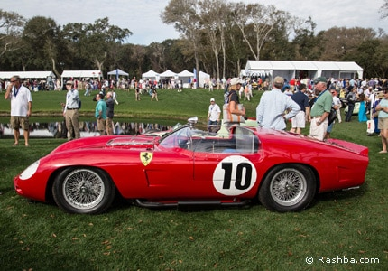 A classic Ferrari on the field at the 2015 Amelia Island Concours d'Elegance in Florida