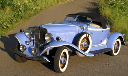 A 1933 Auburn 8-105 Boattail Speedster, one of the vintage cars featured at the auction