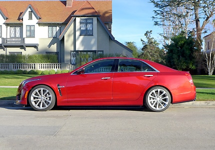 A side view of the 2016 Cadillac CTS-V RWD sedan