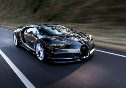 The Bugatti Chiron, one of GAYOT's Top 10 Fastest Cars Worldwide