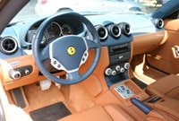 The Ferrari 612 Scaglietti features a straight-forward dashboard design