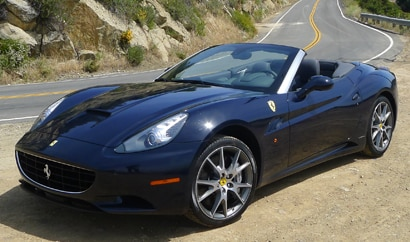A three-quarter front view of a 2012 Ferrari California