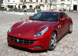 A three-quarter front view of a red 2012 Ferrari FF