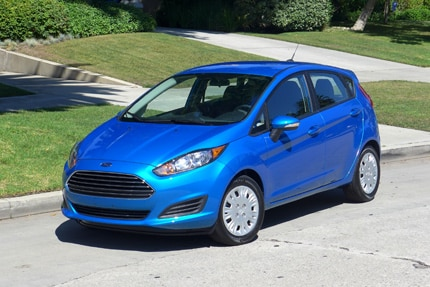 A front view of the fuel efficient 2014 Ford Fiesta SE
