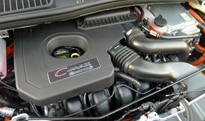 The hybrid engine of the 2013 Ford C-MAX Energi