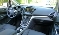 An interior view of the 2013 Ford C-Max Energi