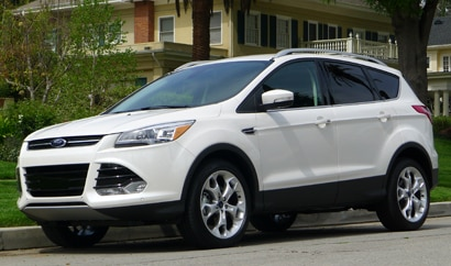 A three-quarter front view of a 2013 Ford Escape Titanium 4WD