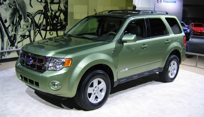 The 2008 Ford Escape Hybrid at the LA Auto Show