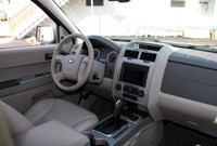 A view of the front interior of the 2008 Ford Escape Hybrid 4WD