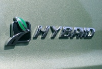 A view of the logo on the 2008 Ford Escape Hybrid 4WD