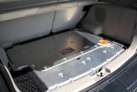 A view of the Ford Escape Hybrid 4WD's trunk