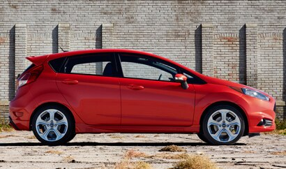 A side view of the Ford Fiesta Hatchback