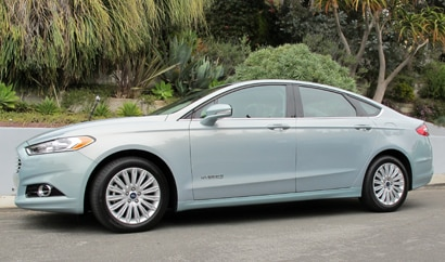 A side view of the 2013 Ford Fusion Hybrid