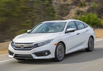 The 2016 Honda Civic sedan, one of GAYOT's Top 10 Fuel-Efficient Automobiles