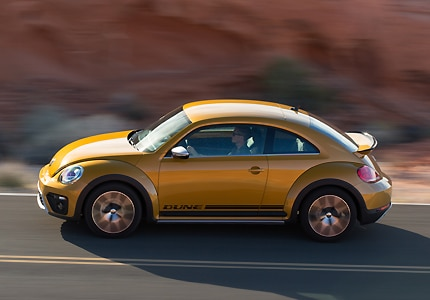 The 2016 Volkswagen Beetle Dune, one of GAYOT's Top 10 Fun-to-Drive Cars