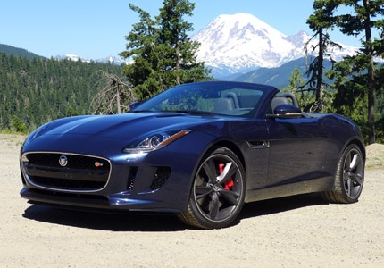 A three-quarter front view of the Jaguar F-TYPE S