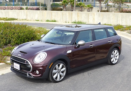 A front view of the 2016 Mini Cooper S Clubman hatchback