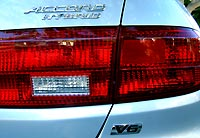 Tail light of the Honda Accord Hybrid