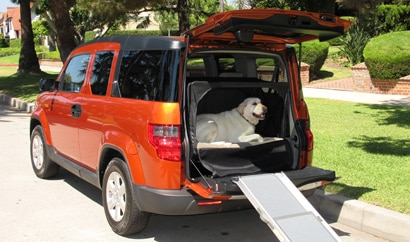 The Honda Element, one of our Top 10 Dog-Friendly Cars, offers cool perks for pets