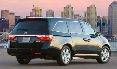 The Honda Odyssey, one of our featured minivans