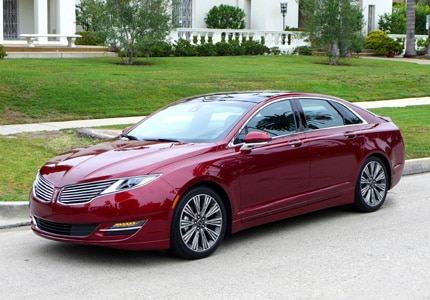 The 2016 Lincoln MKZ Hybrid Black Label Edition, one of GAYOT's Top 10 Hybrid Cars