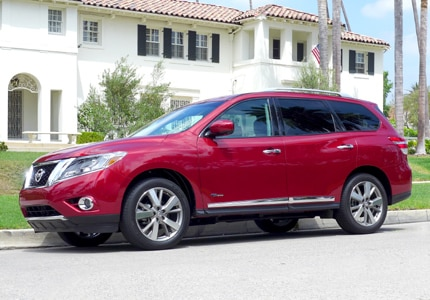 The Nissan Pathfinder Hybrid, previously one of GAYOT's Top 10 Hybrid Cars