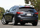 A three-quarter rear view of the Infiniti FX50 AWD