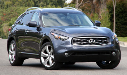 A three-quarter front view of a 2009 Infiniti FX50 AWD