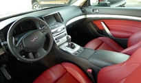 An interior view of the 2012 Infiniti IPL G Coupe