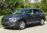 A three-quarter front view of the 2013 Infiniti JX35