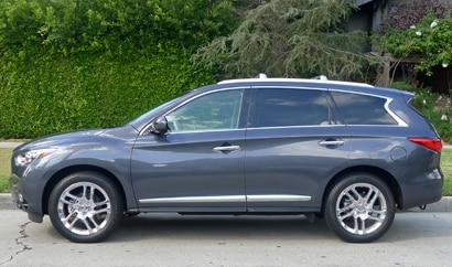 A side view of a 2013 Infiniti JX35