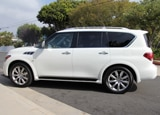 A side view of the 2014 Infiniti QX80 AWD