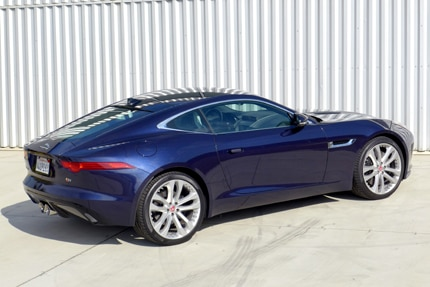 A three-quarter rear view of the 2016 Jaguar F-TYPE S Coupe Manual