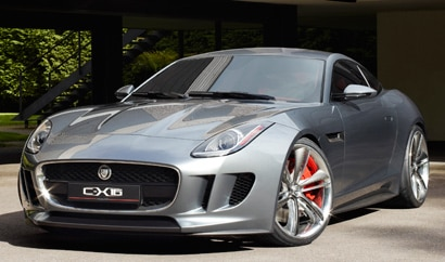 A three-quarter front view of a 2013 Jaguar C-X16