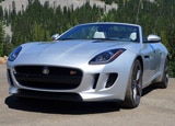 A three-quarter front view of a 2014 Jaguar F-TYPE S