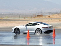 The Jaguar F-TYPE R Coupe on the track at Willow Springs