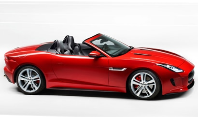 A side view of the Jaguar F-Type, making its North American debut at the 2012 Los Angeles Auto Show