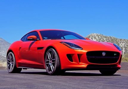 The Jaguar F-TYPE R Coupe, one of GAYOT's Top 10 Exotic Sports Cars