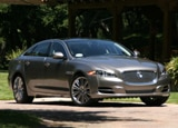 A three-quarter front view of a 2011 Jaguar XJL