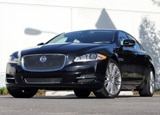 A three-quarter front view of a 2011 Jaguar XJL Supercharged