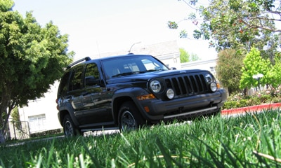 A three-quarter front view of a 2006 Jeep Liberty Renegade 4x4