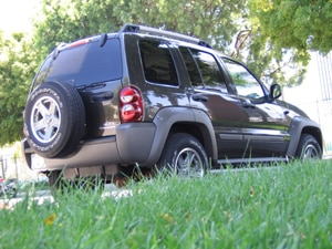 A three-quarter rear view of a 2006 Jeep Liberty Renegade 4x4