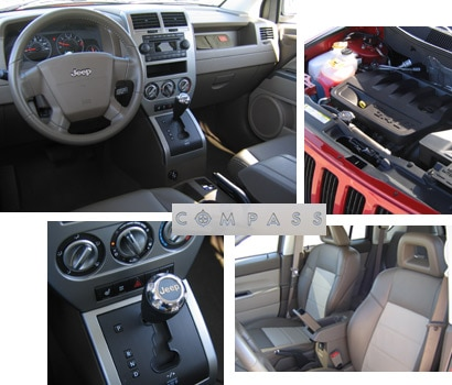 Jeep Compass interior and engine
