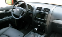An interior view of the 2009 Kia Borrego EX