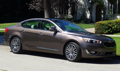 The Kia Cadenza, one of GAYOT's Top 10 Fuel-Efficent Cars for 2014