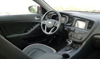 An interior view of the 2012 Kia Optima SX Turbo
