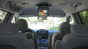 The interior of the 2006 Kia Sedona LX