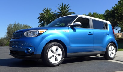 A Kia Soul EV, one of GAYOT's Top 10 Electric Cars