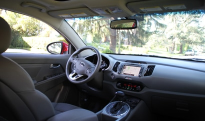 A look at the interior of the 2011 Kia Sportage
